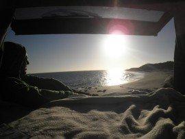 Camping Ausrüstung im Auto