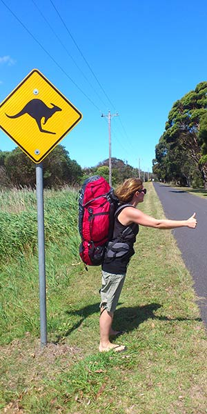 Der Work and Traveller-Rucksack in Australien.