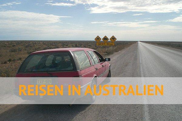 mit dem Auto im australischen Outback