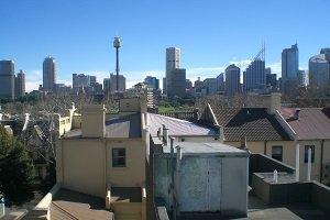 Der Sydney Tower prägt die Skyline von Sydney entscheidend mit.