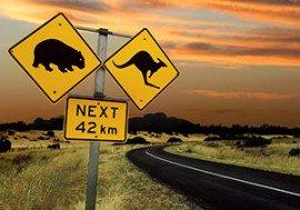 australisches Straßenschild