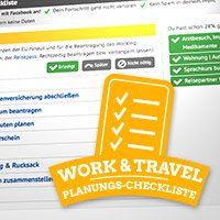 Die ultimative Checkliste für Work and Traveller