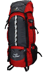 Backpacking-Rucksack rot-grau